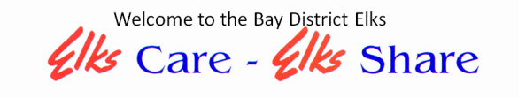 Welcome to the Bay District Elks